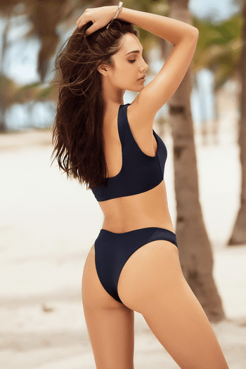 Navy Two Piece Swimsuit