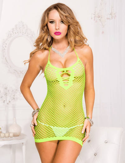 Neon Fishnet Sexy Chemise
