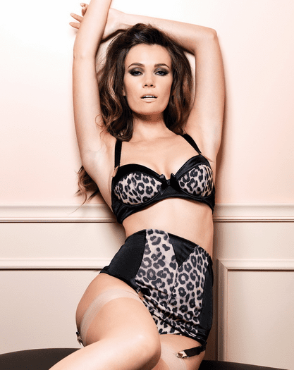 Never Lonely Sexy Leopard Bra & Garterbelt & Thong Set