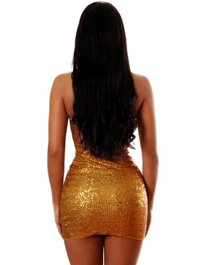 New Year's Sexy Sequin Dress