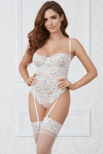Nikkie's Getting Married Bridal Lace Teddy