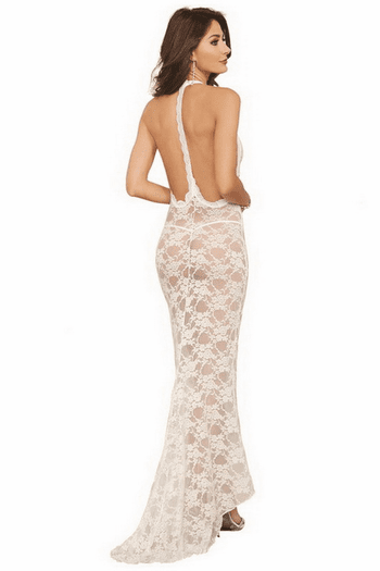 Once Upon A Time Sexy Lace Gown & Thong Set