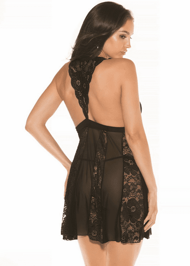 One Last Time Lace Babydoll & G-String Set