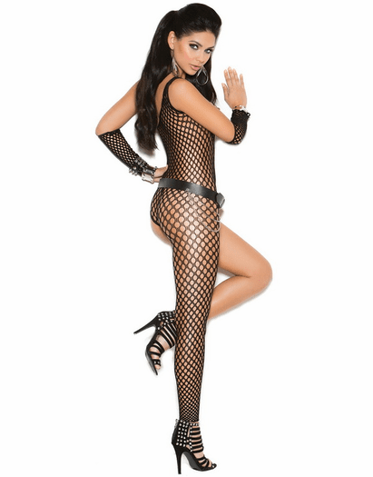 One Side Sexy Bodystocking & Arm Bands