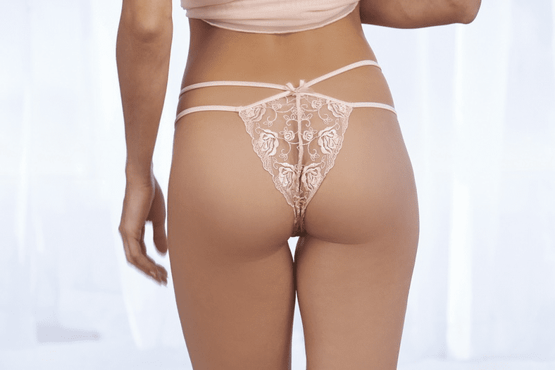 Opalescent Mesh & Embroidered Lace Babydoll