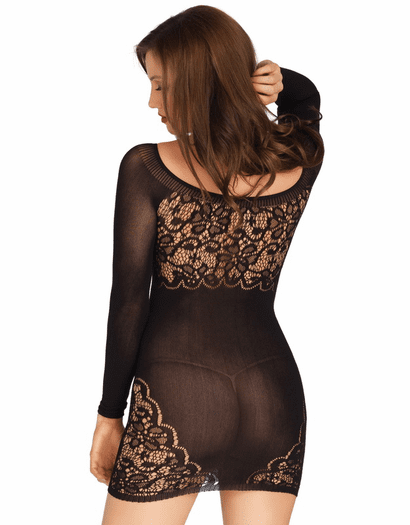Opaque Long Sleeve Floral Fantasy Chemise