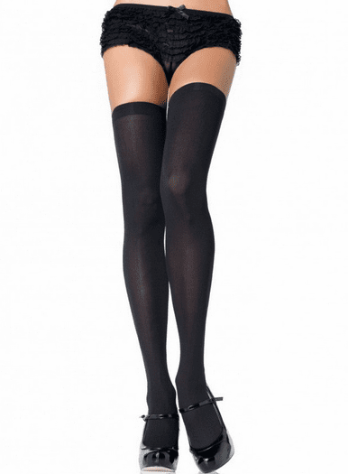 Sexy Opaque Nylon Thigh High Stockings