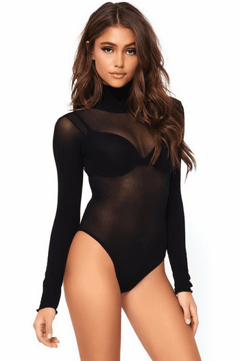Opaque Snap Crotch Bodysuit