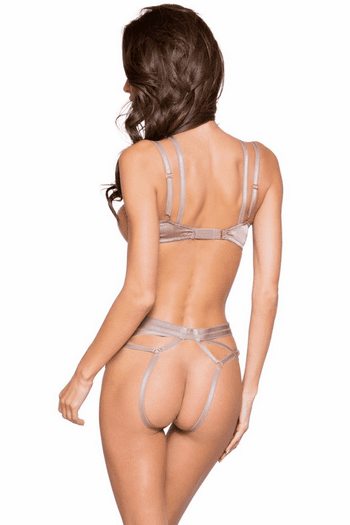 Open Bust and Crotchless Bra and Panty Set