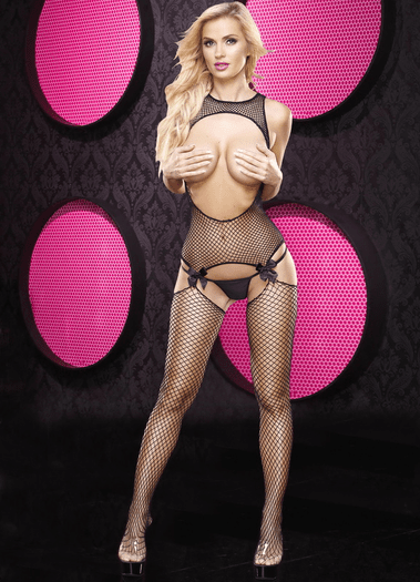 Open Bust Crotchless Bodystocking