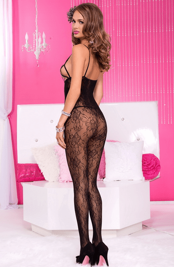 Open Cup Sexy Lace Bodystocking