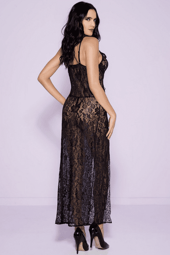 Open Front Lace Gown