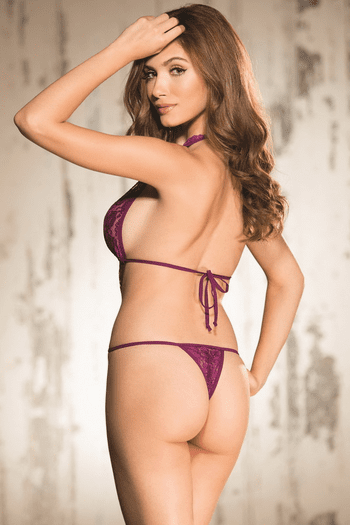 Orchid Super Sexy Stretch Lace Teddy