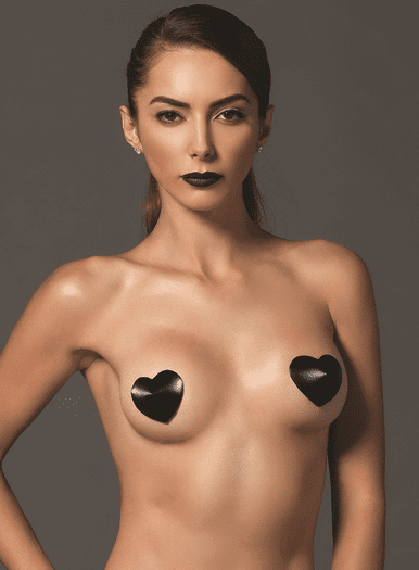 Padded Satin Heart Pasties