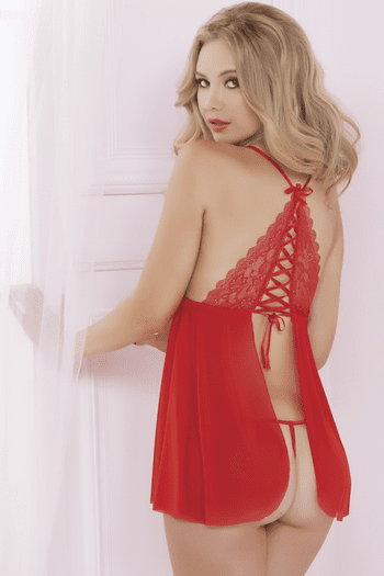 Passion For Life Sexy Babydoll & Thong Set