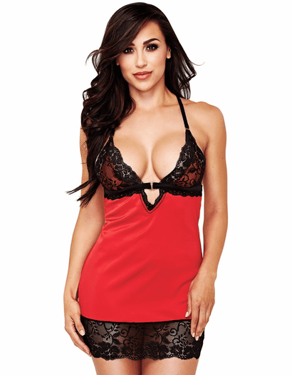Passionate Affair Red Chemise & Thong Set
