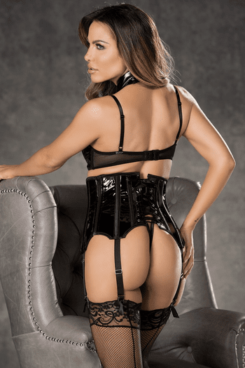 Patent Leather High Waisted Waist Cincher