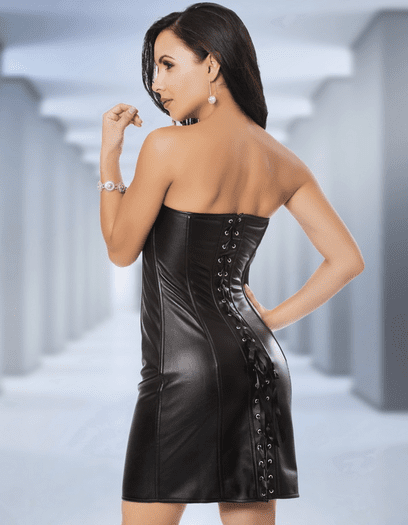 Patricia's Leather Corset Dress