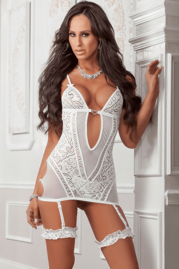 Pearl Lacy Cut Out Chemise