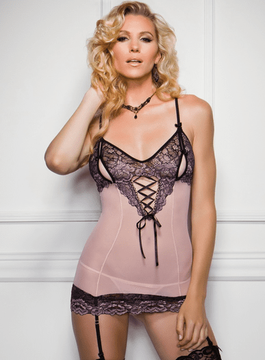 Peek A Boo Sexy Chemise- Spicy Lingerie-8635