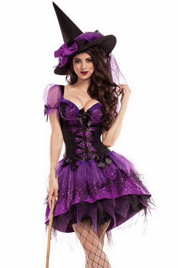 Perfect Purple Witch Costume