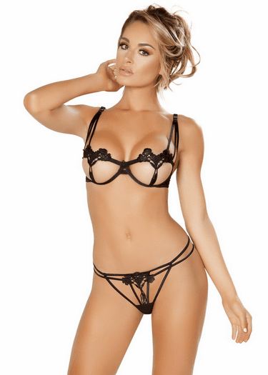 Perfectly In Love Bra & Strappy Thong Set