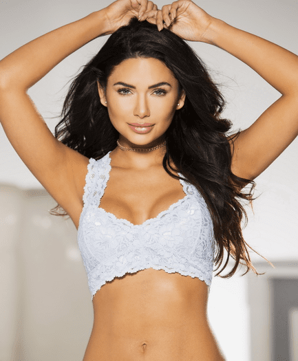 Periwinkle Blue Lace Bralette Top
