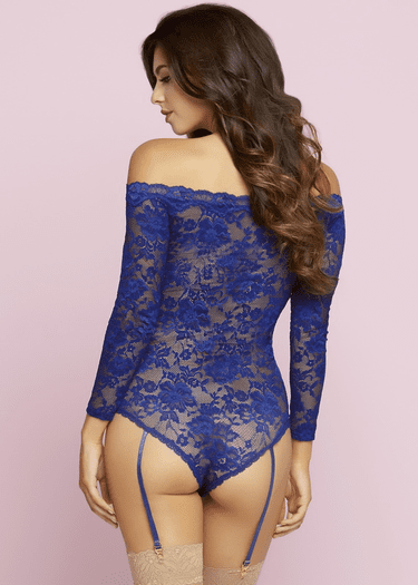 Picture Perfect Lace Snap Crotch Teddy