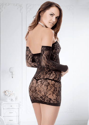 Piece OF Me Lace Long Sleeve Chemise