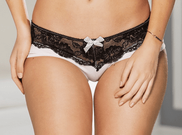 Pink & Black Lace Boy Short Panty