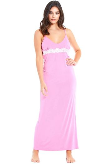 Pink Lace Trim Gown