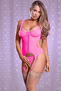 Pink Merry Widow & Crotchless G-String