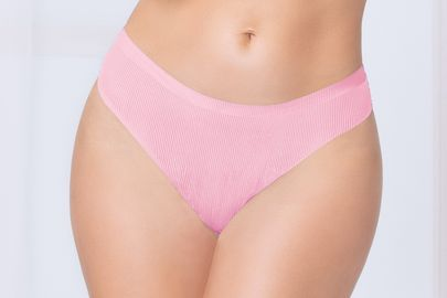 Pink Shadow Stripe Bonded Thong