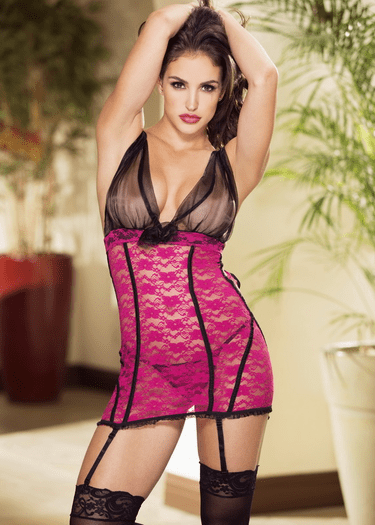 Pleasing You Chemise & G-String Set