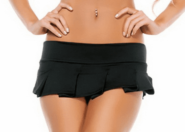 Pleated Solid Mini Skirt