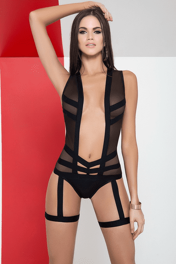Plunging Sheer Teddy
