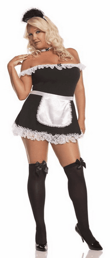 Plus Size 4 PC French Maid