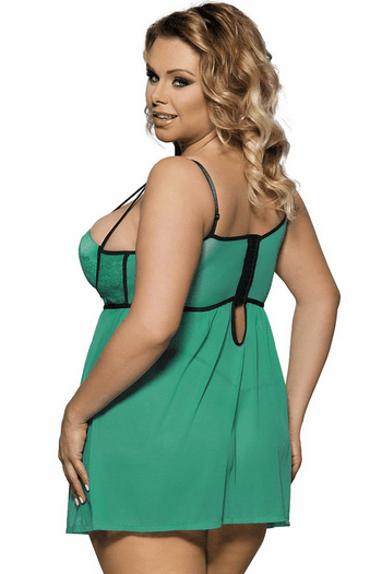 Plus Size Afternoon Delight Babydoll & G-String Set