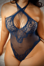 Plus Size All I Ever Wanted Scalloped Lace Teddy