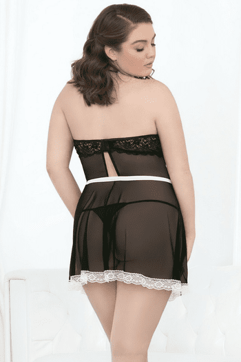Plus Size At Your Service French Maid Bedroom Costume