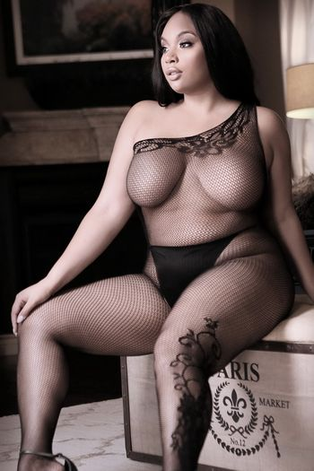 Plus Size Before Dawn Off Shoulder Bodystocking