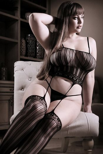 Plus Size Black Magic Cami Top & Attached Stockings