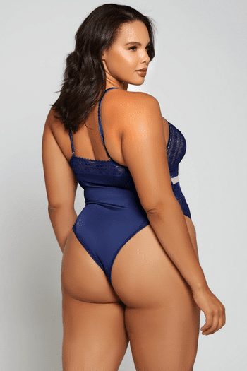 Plus Size Blue Clover Sexy Lace Teddy