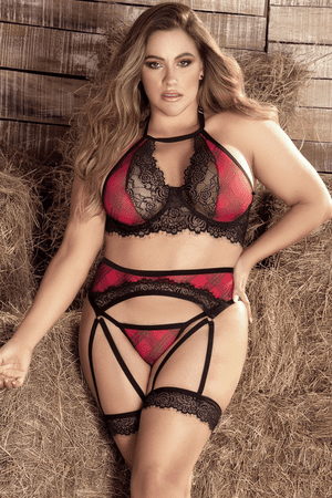 Plus Size Chasing Ryan Sexy Bra Set