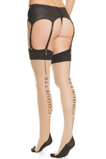 Plus Size Coquette Back Seam Stockings