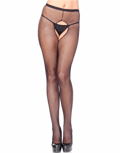 635139ce6 Plus Size Crotchless Fishnet Pantyhose - Spicy Lingerie