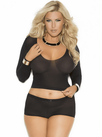 Plus Size Cupid's Choice Sheer Set