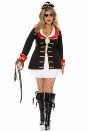 Plus Size Cute Captain Sexy Sailor Costume
