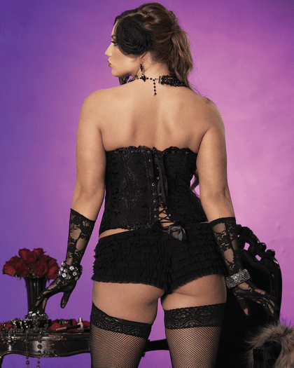 Plus Size Darling Love Brocade Corset