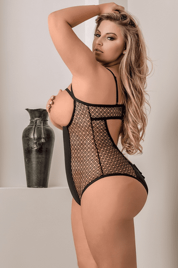 Plus Size Dirty Diva Open Cup & Crotchless Teddy